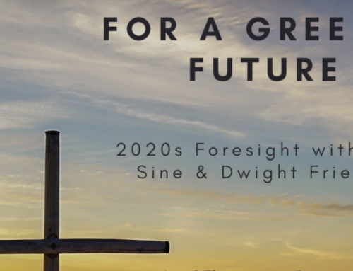 """Part of the Origins of """"For a Greener Future: 2020s Foresight with Tom Sine and Dwight Friesen"""""""